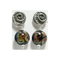 Black Raku Earrings