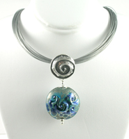 Turquoise Signature Silver Swirl Pendant