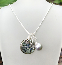 Pearl Gray Silver Necklace