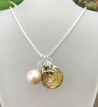 Pearl Blush Gold Necklace