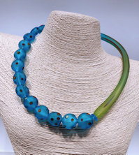 Aqua Coin Necklace