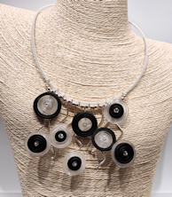 Circles Black & White Necklace