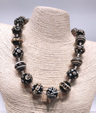 Black and Cream Necklace