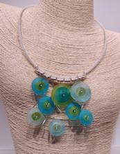 Circles Aqua-Lime Necklace