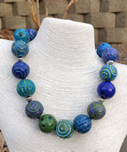 Battuto Green and Blue Necklace