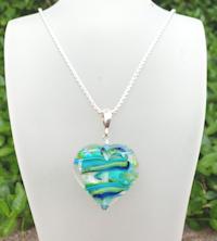 Heart Aqua Sparkle