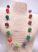 Flowers and Dots Necklace Small