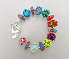 Flowers and Dots Bracelet