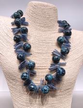 Denim and Sodalite Bubbles Necklace
