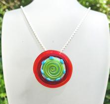 Disk Red Circle Pendant