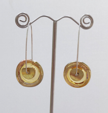 Disk Gold Earrings