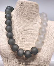 Gray Etched Necklace