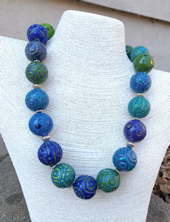 Battuto Blue and Green Necklace