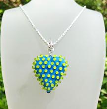 Heart Poka Dots Aqua
