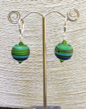 Lime Satin Earrings