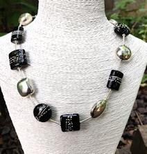 Geometric Black Necklace