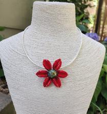 Flower Pendant - Red
