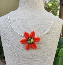 Flower Pendant - Orange