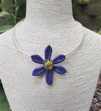 Flower Pendant - Purple