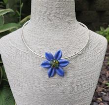 Flower Pendant - Periwinkle