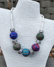 Battuto Colors Silver Necklace