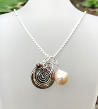 Pearl Champagne Bronze Shimmer Necklace