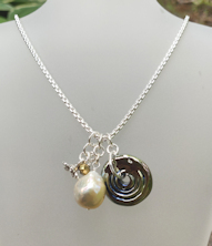 Pearl Champagne Silver Necklace
