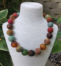 Satin Planets Necklace