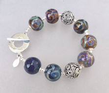 Silk Blue Bracelet
