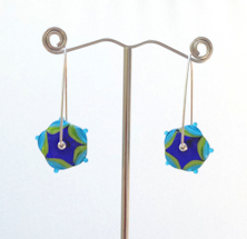 Swing Aqua Earrings